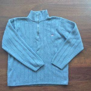 (Polo Jeans) Ralph Lauren Mens Grey 1/4 Zip - XL